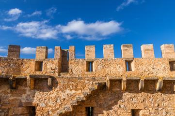 Wall Mural - Festungsmauer des Castell de Capdepera auf Mallorca