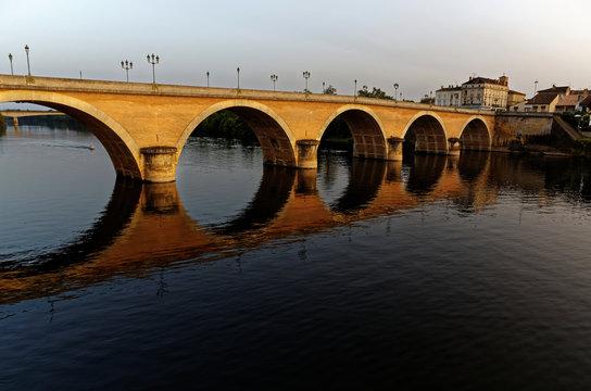 Coucher de soleil pont de Bergerac
