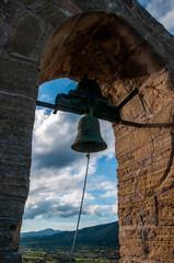 Wall Mural - Glocken der Kirche der Burg von Capdepera auf Mallorca