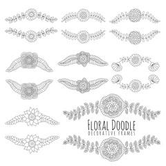 Doodles floral frames