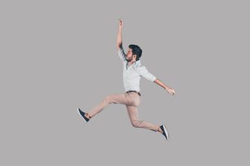 Free jumping.  Wall mural