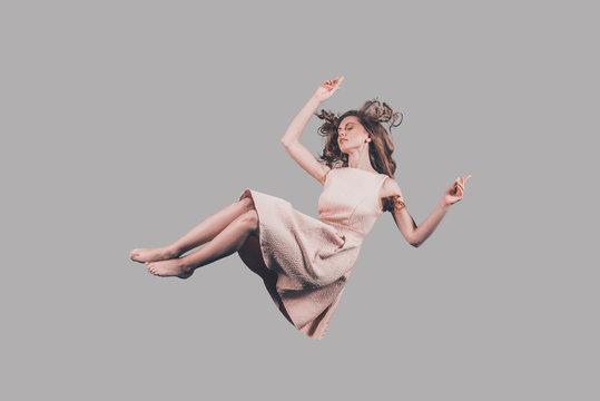 Falling in motion.