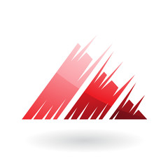Striped Triangle Abstract Icon