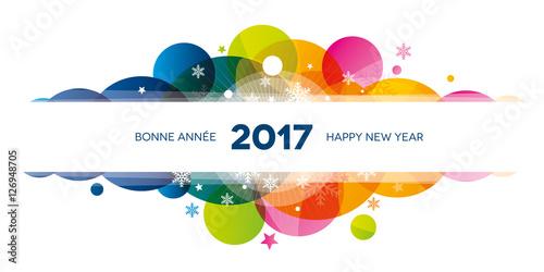 2017 colors flocons carte de voeux photo libre de droits sur la banque d 39 images - Carte de voeux 2017 gratuite ...