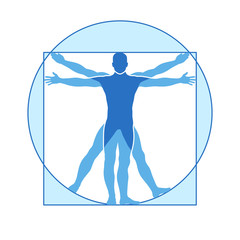 Human body vector icon of vitruvian man