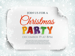 Christmas party invitation poster, flyer or brochure template.