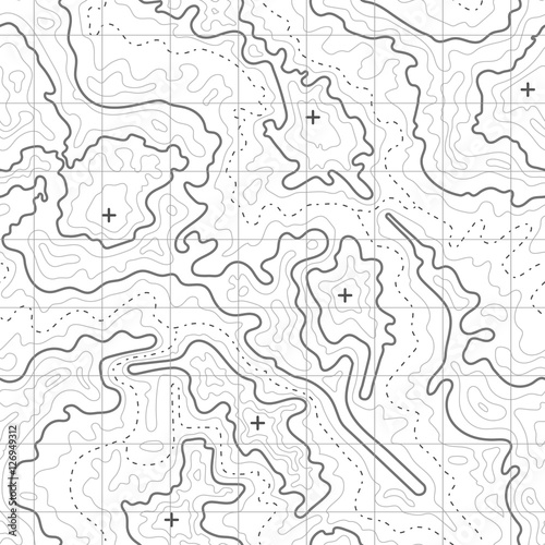 Topographic Map Vector Free.Topographic Map Vector Background With Mountain Texture And Grid