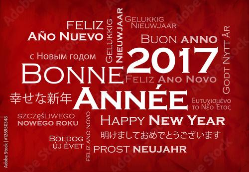 Bonne ann e 2017 nuage de mots texte voeux animation fond rouge photo libre de droits sur la - Texte carte de voeux 2017 ...