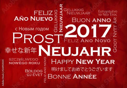 rost Neujahr 2017 internationalen tag cloud Frohes neues Jahr wörter ...