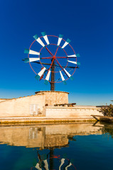 Traditionelle Windmühle auf Mallorca