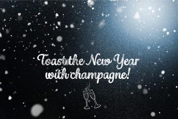 New Year Message on Dark Background Design