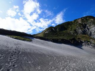 砂丘と断崖(東京都新島村)