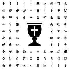religiious cup icon illustration
