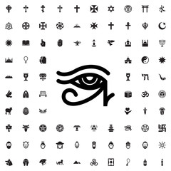egypt eye icon illustration