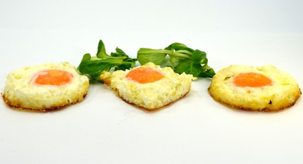 Egg trio on the plate