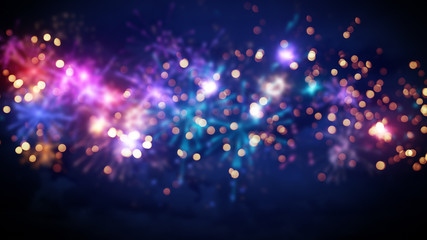 beautiful blur fireworks abstract background