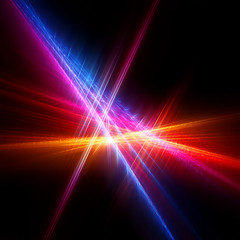 Abstract colorful bright fractal on a black background