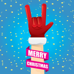 Christmas Rock n roll greeting card.