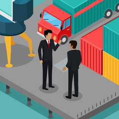 Business Negotiations in the Port Vector Concept