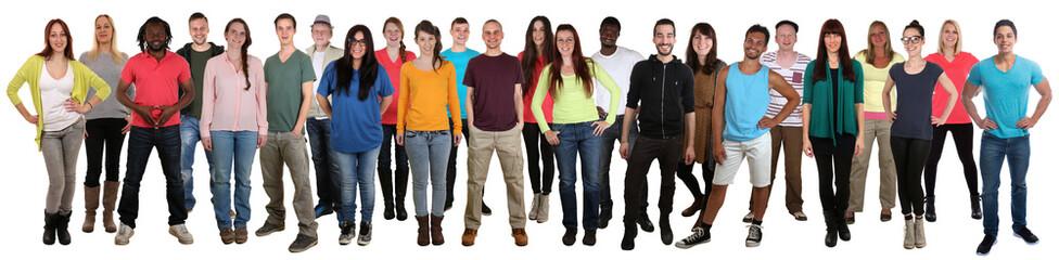 Menschen lachen glücklich multikulturell People Gruppe junge Le