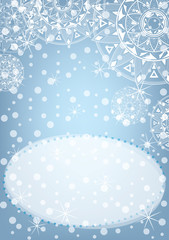 Winter background. New Year poster.