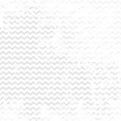 Grunge white and gray background with chevron. Vector worn texture.