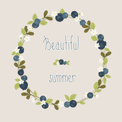 Blueberry summer beautiful wreath