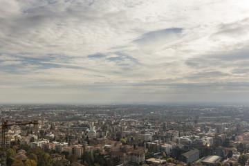 Panorama città di Bergamo