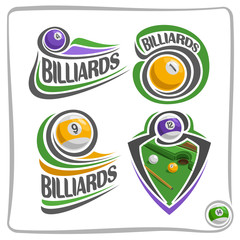 Vector abstract logo Billiards Ball