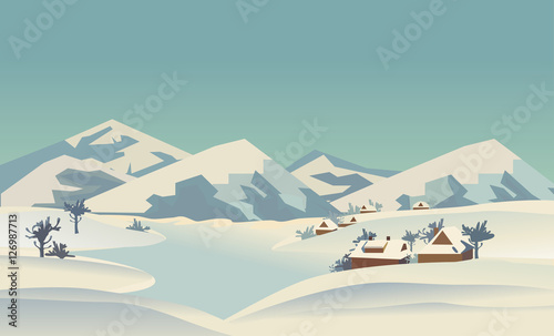 "Valley National Bank Stock Quote: ""Winter Nature Landscape. Mountain River In Snowy Glacier"
