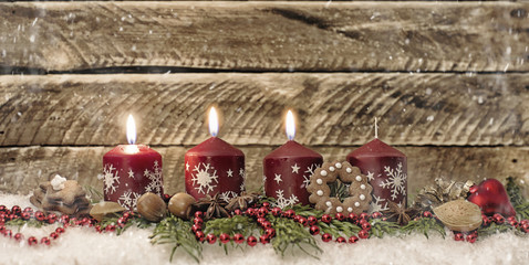 3 Advent Gesteck Kerzen