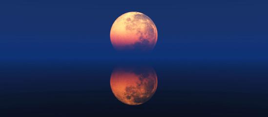 clear full moon