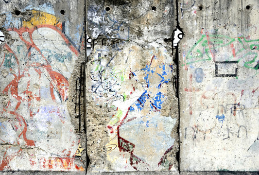 Detail of the Berlin Wall in Germany.
