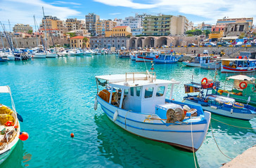 The inner harbor of Heraklion