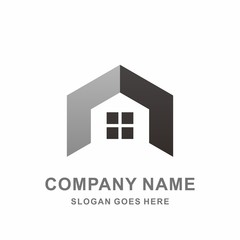 House Shape Geometric Hexagon Architecture Real Estate Business Company Stock Vector Logo Design Template