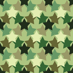 Camouflage pattern with the stars