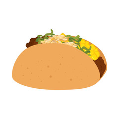 taco mexican food icon vector illustration design