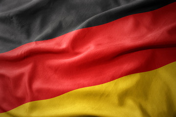 waving colorful flag of germany. Fototapete
