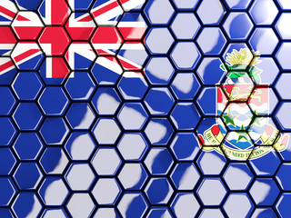 Flag of cayman islands, hexagon mosaic background