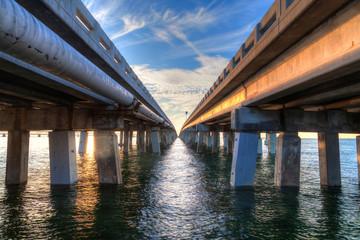 Landscape bridge over water