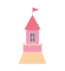 cute castle isolated icon vector illustration design