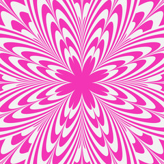 Illusion Pink Flower Abstract Background