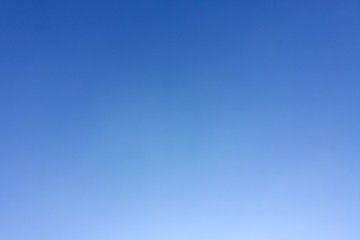 Blue sky clear. Clean blue sky background.