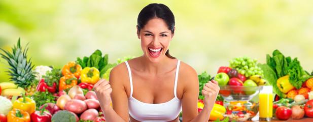 Fototapete - Happy dieting girl.