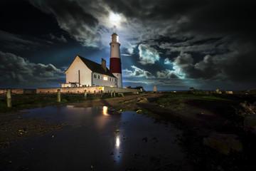 Portland Bill Lighthouse by Moonlight