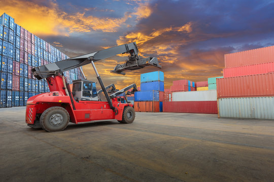 forklift  at container yard
