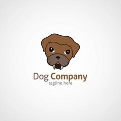 Abstract Dog Logo Design Template. Vector Illustration.