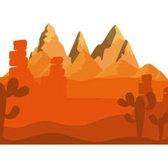 Desert icon. Landscape nature outdoor season and sant theme. Isolated design. Vector illustration