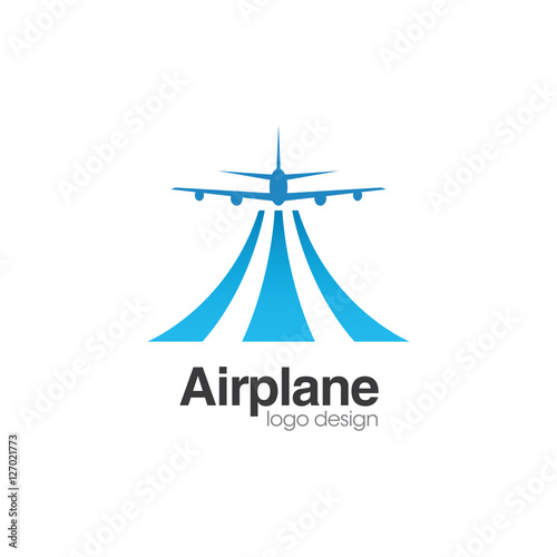 Airplane Creative Concept Logo Design Tempateu0026quot; Stock image and ...