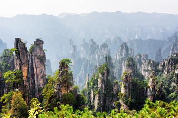Scenic view of quartz sandstone pillars (Avatar Mountains)